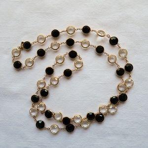 Swarovski Austrian Crystal & Gold Long Necklace